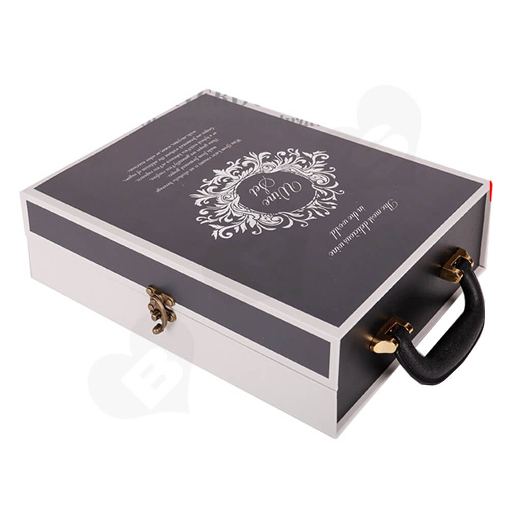 Luxury Two Pack Wine Box Kit Take Away Able Side View One