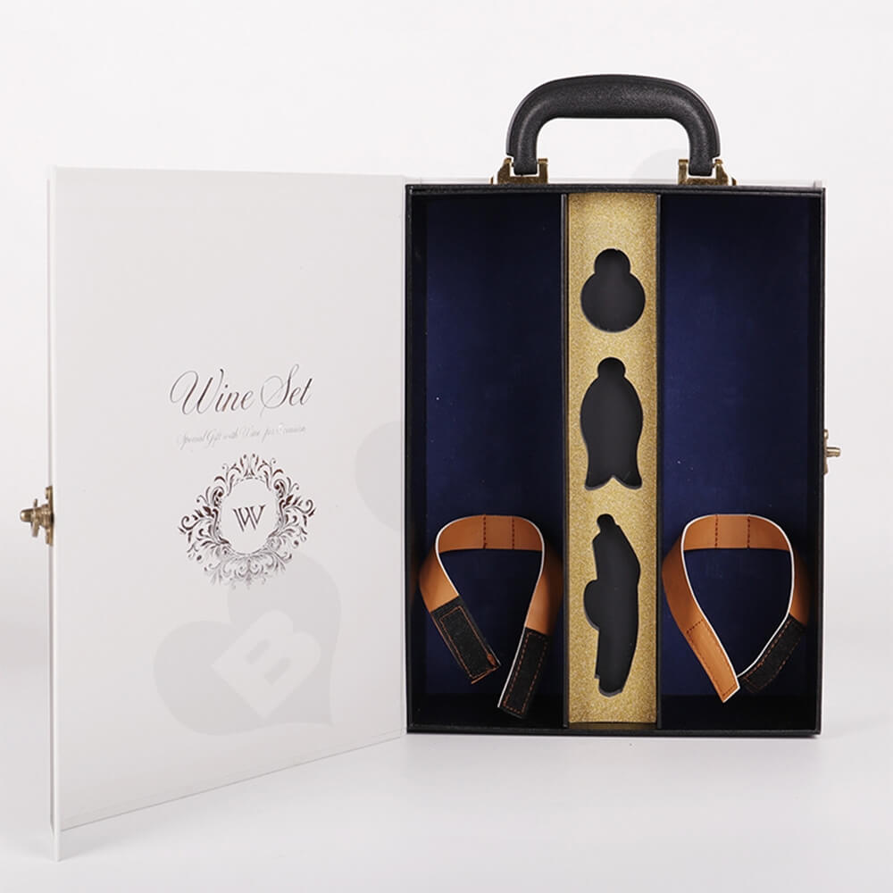 Luxury Two Pack Wine Box Kit Take Away Able Side View Two