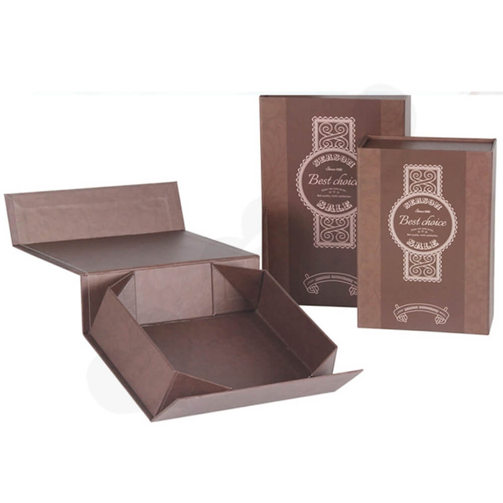 Matte Coating Collapsible Gift Box For Wine Side View Five