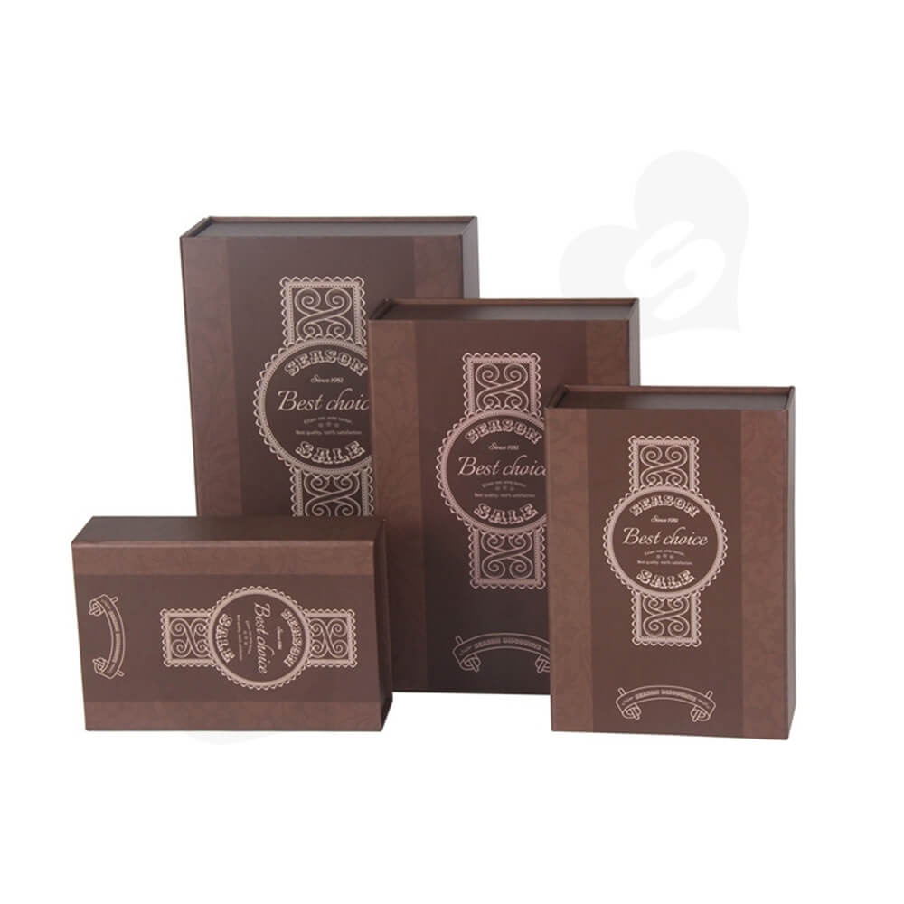 Matte Coating Collapsible Gift Box For Wine Side View One