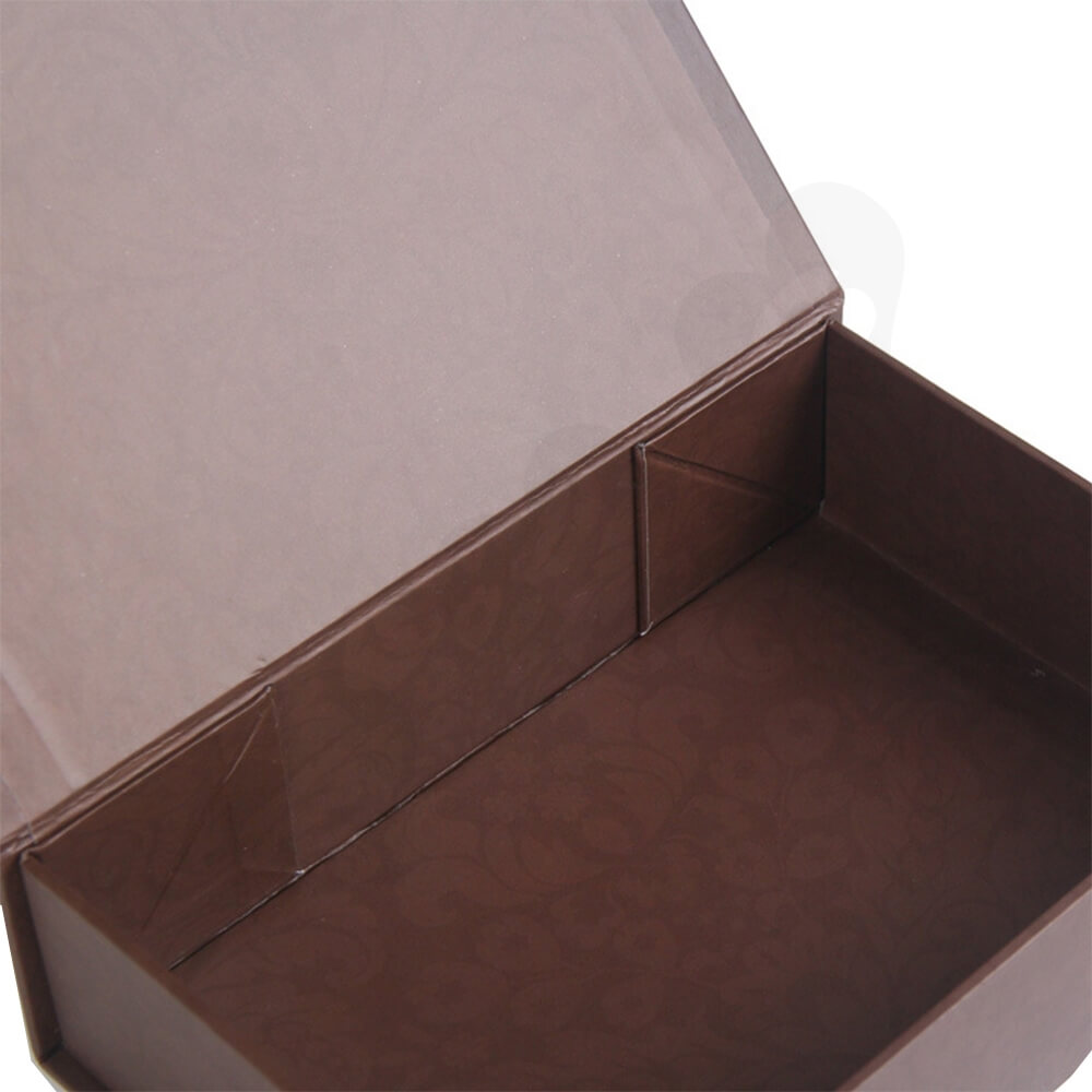 Matte Coating Collapsible Gift Box For Wine Side View Three