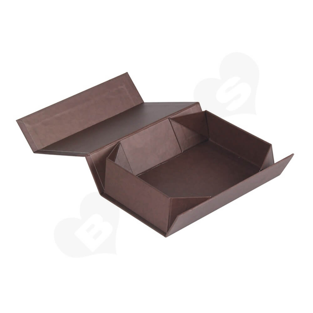 Matte Coating Collapsible Gift Box For Wine Side View Two