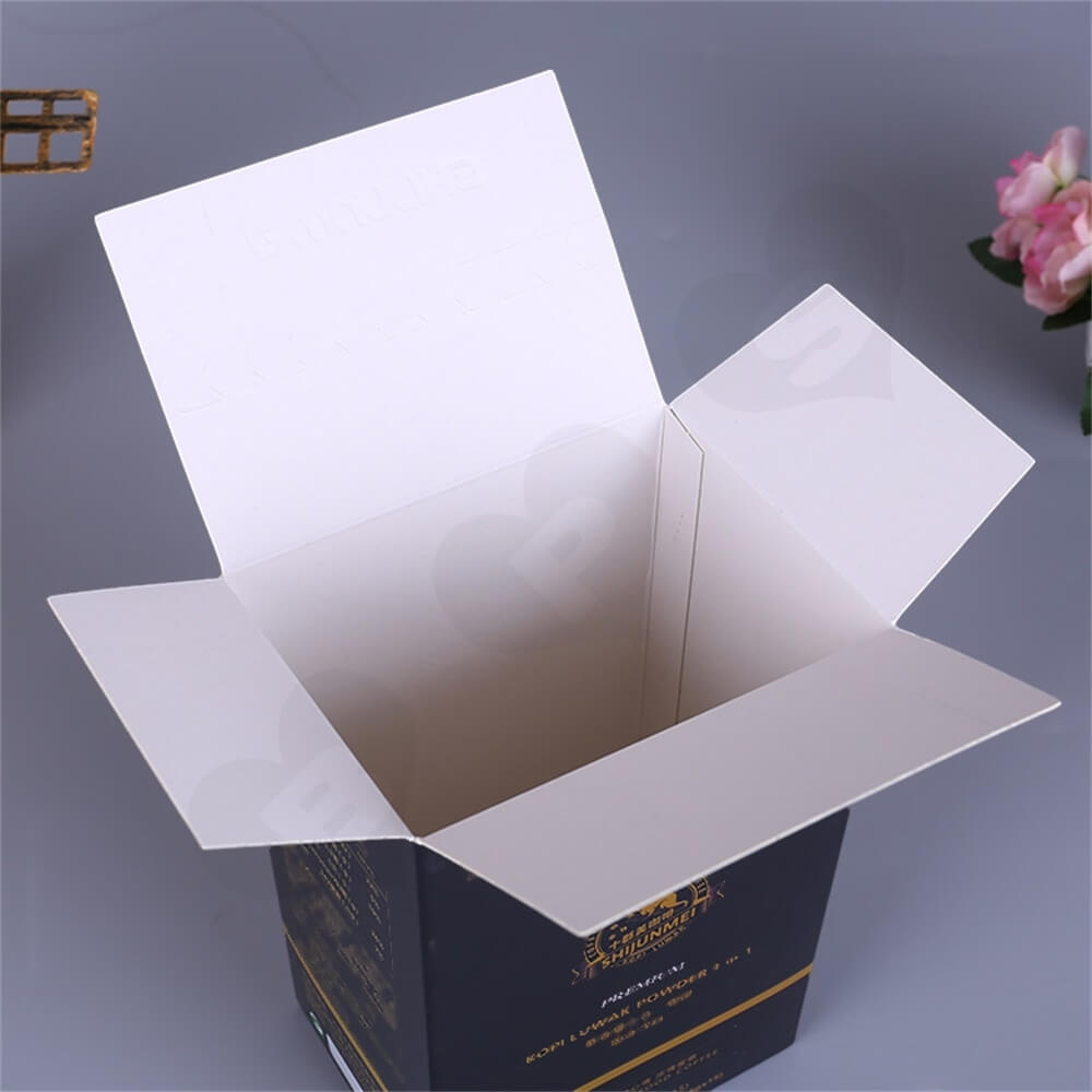 Matte Printing Luwak Powder Packaging Box Side View Four