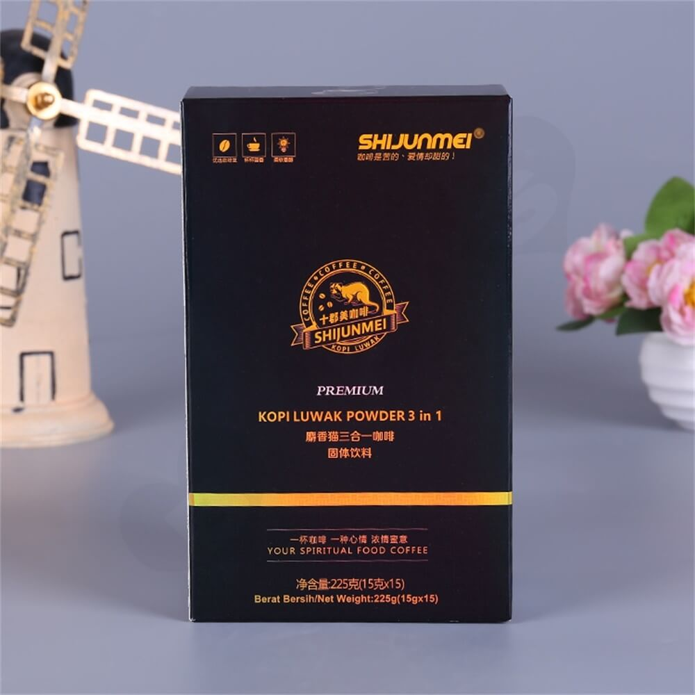 Matte Printing Luwak Powder Packaging Box Side View Six