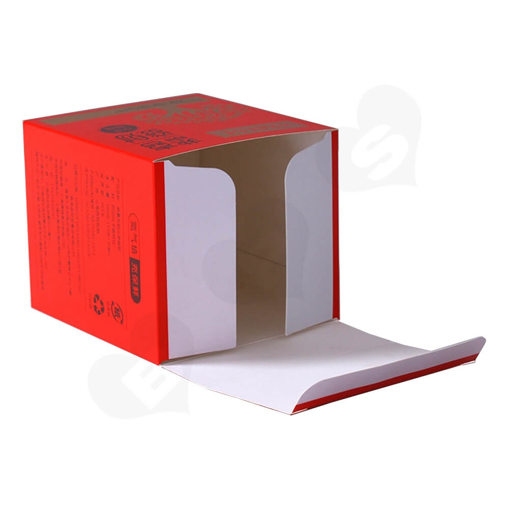 Matte Red Folding Carton For Coffee Powder Side View Four