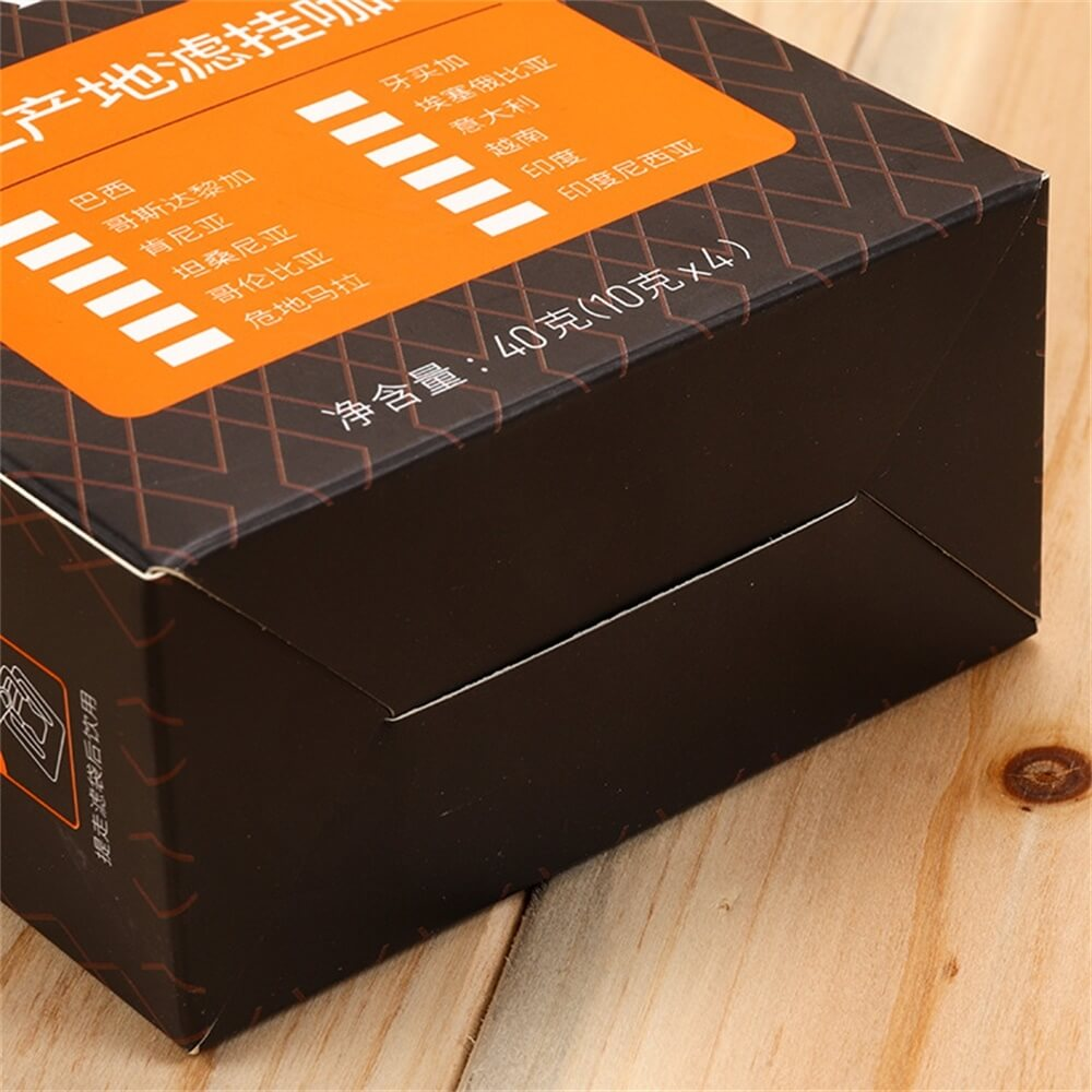 Personalized Folding Carton For Coffee Powder Side View Five