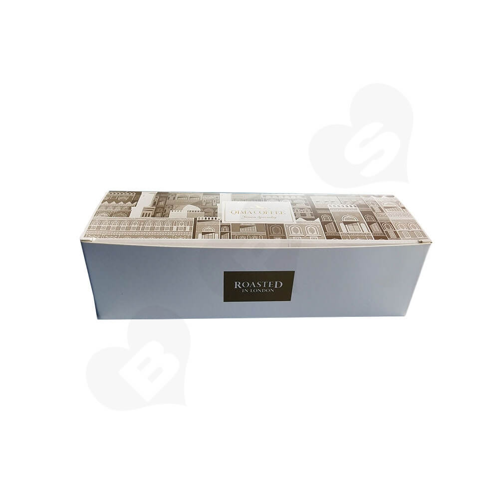 Tuck Top Paper Box For Coffee Powder Side View One