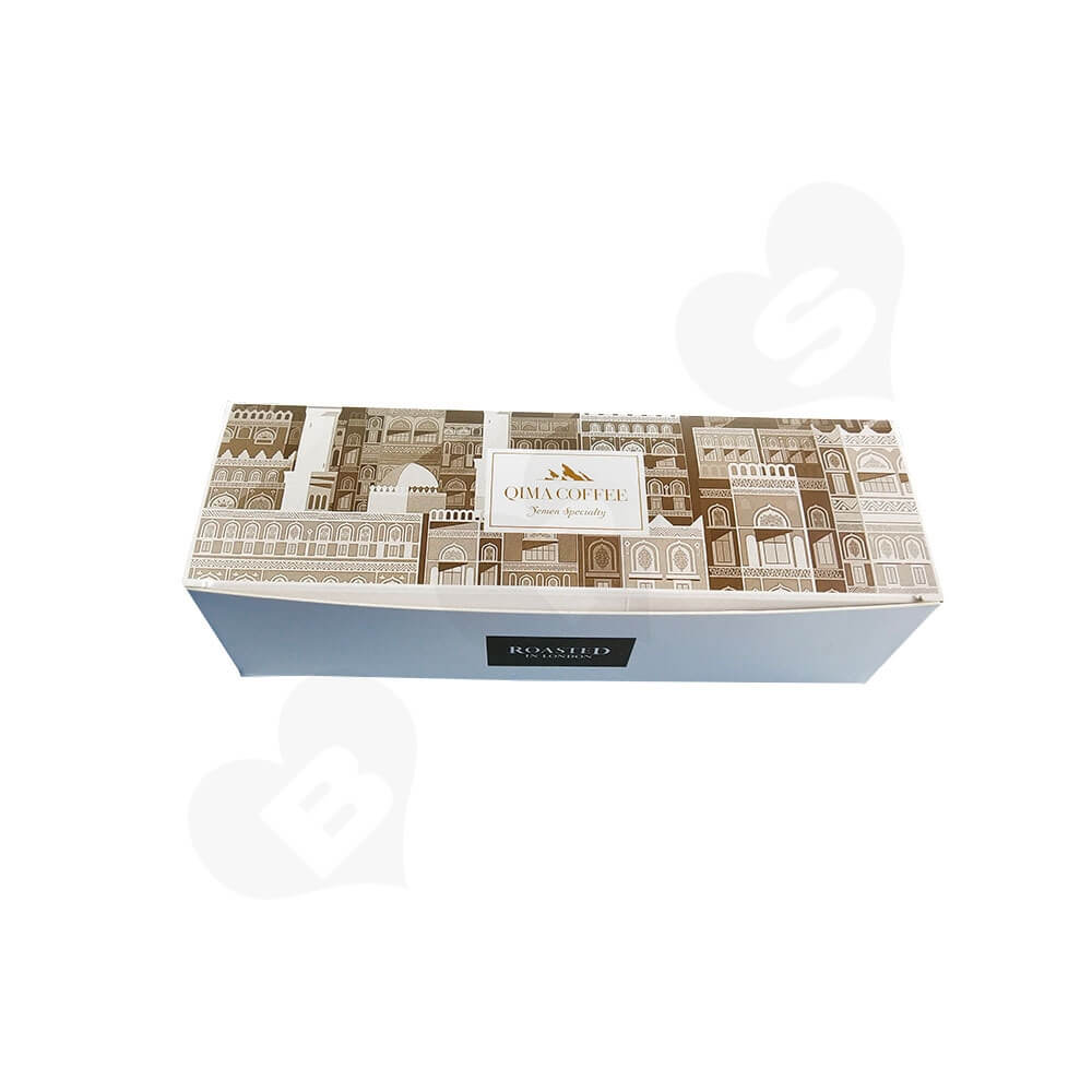 Tuck Top Paper Box For Coffee Powder Side View Two