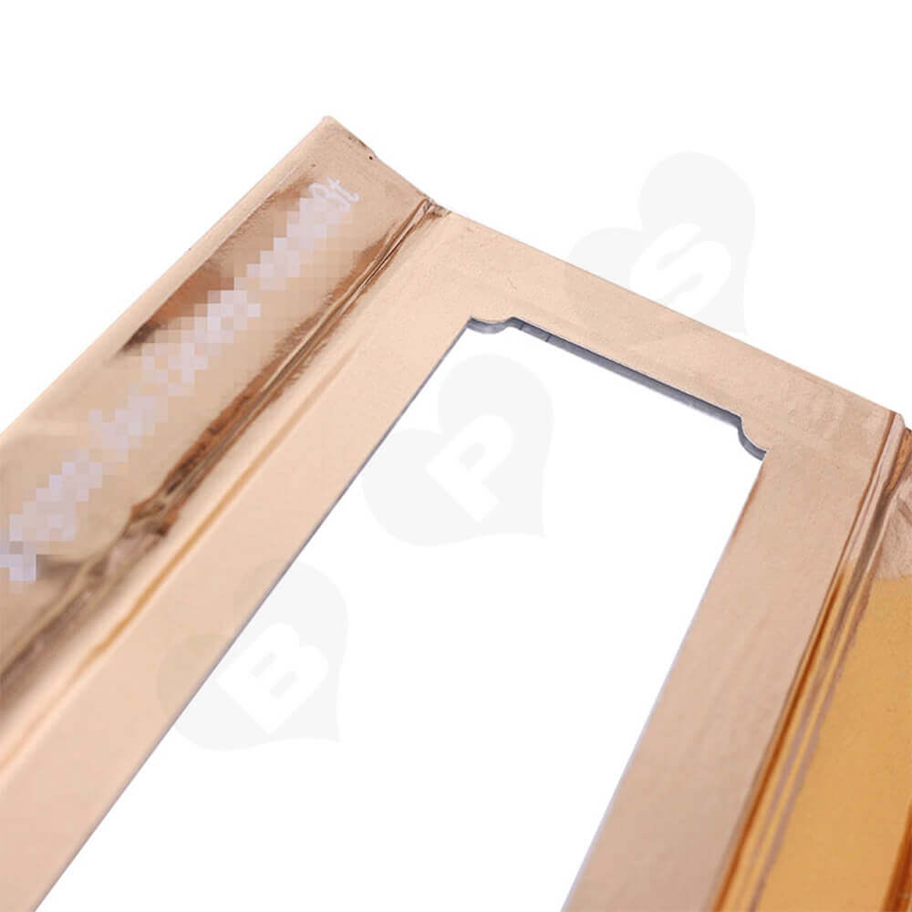 Branded Metallic Gift Box For Eyelash Packaging Side View Four