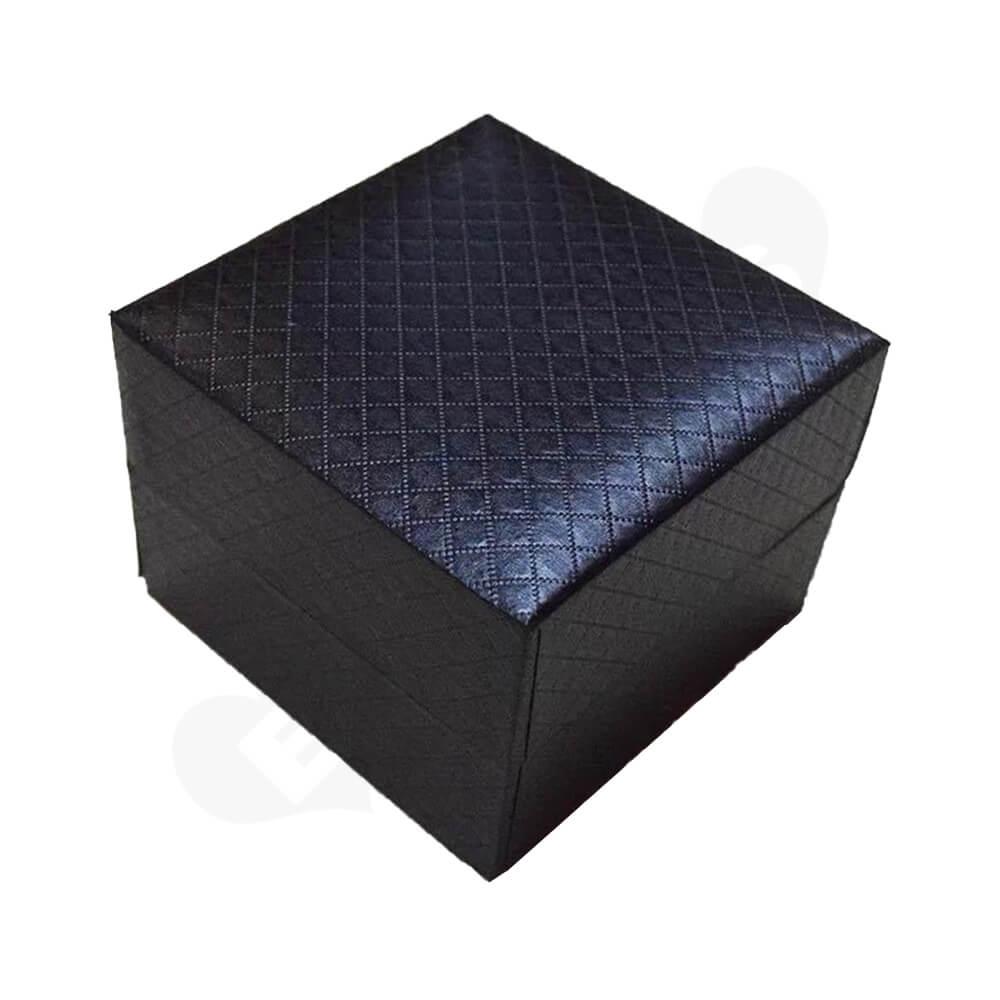 Cardboard Box Diamond Pattern For Watch Side View Four