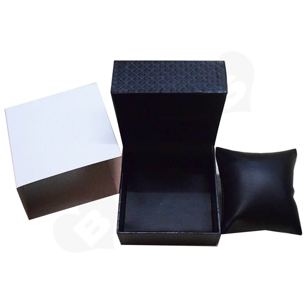 Cardboard Box Diamond Pattern For Watch Side View Three