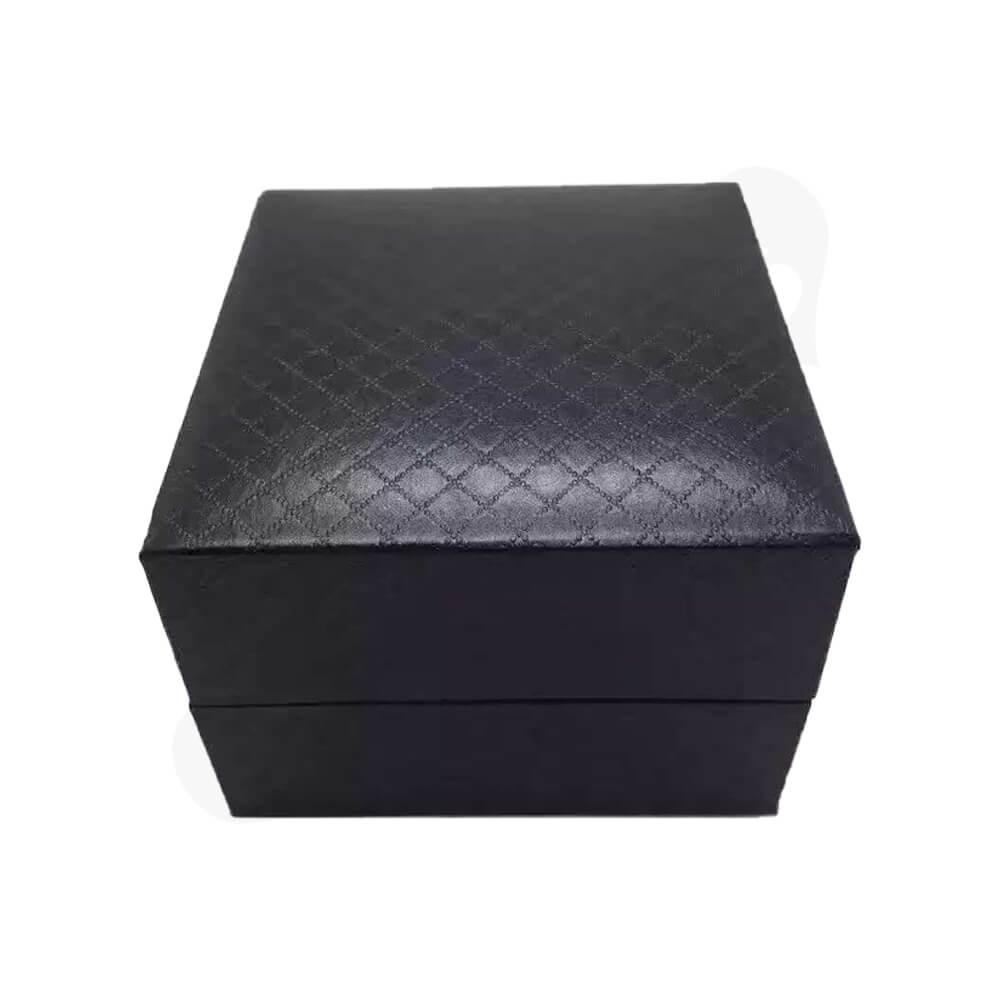 Cardboard Box Diamond Pattern For Watch Side View Two