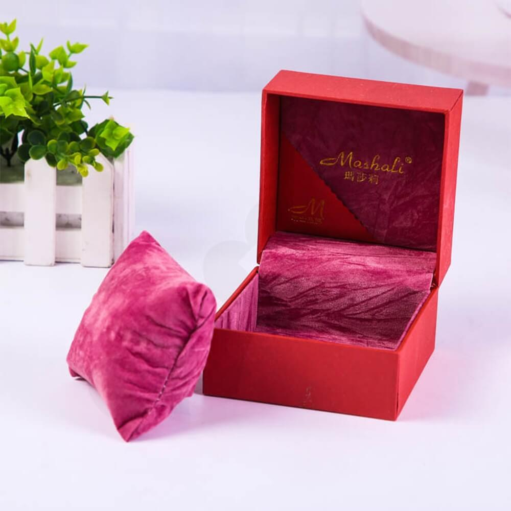 Cardboard Leather Box With Texture For Women Watch Side View Five