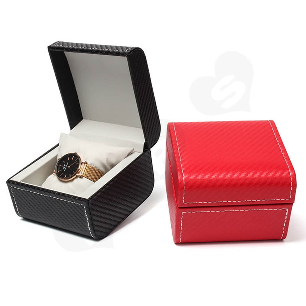 Cardboard Packaging Box With Pattern For Luxury Watch Side View One