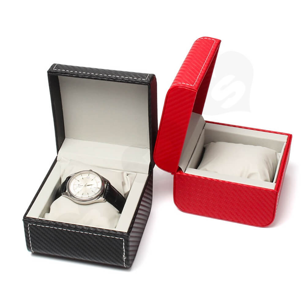 Cardboard Packaging Box With Pattern For Luxury Watch Side View Three