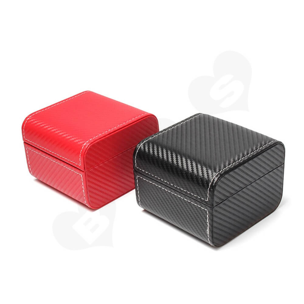 Cardboard Packaging Box With Pattern For Luxury Watch Side View Two