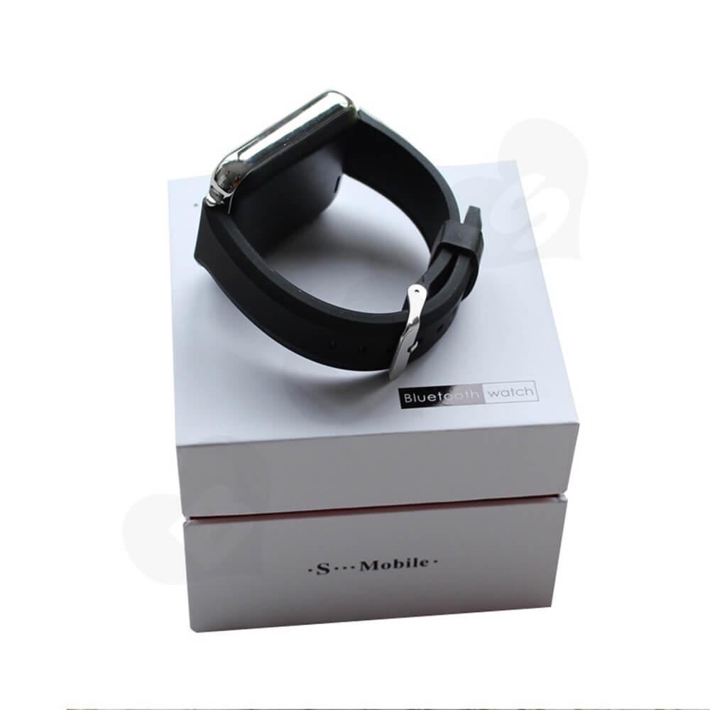 Cardboard Rigid Shoulder Box For Bluetooth Watch Side View One