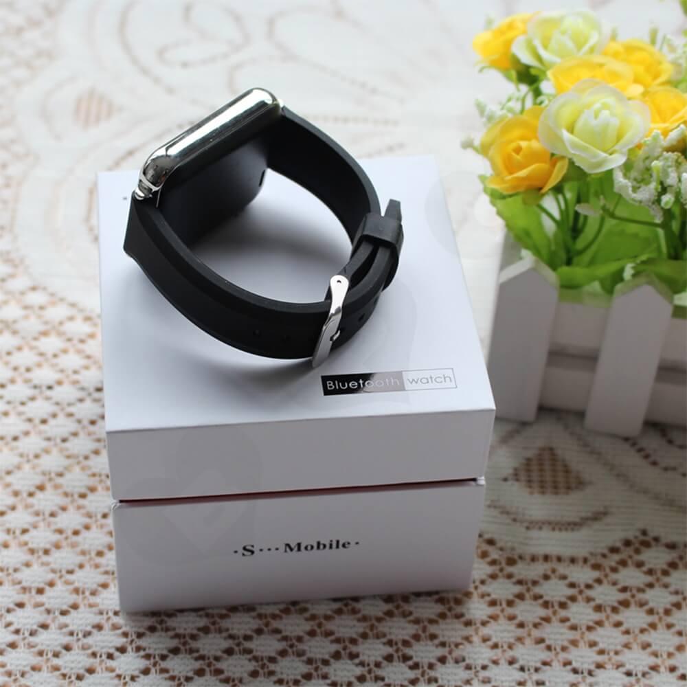 Cardboard Rigid Shoulder Box For Bluetooth Watch Side View Three