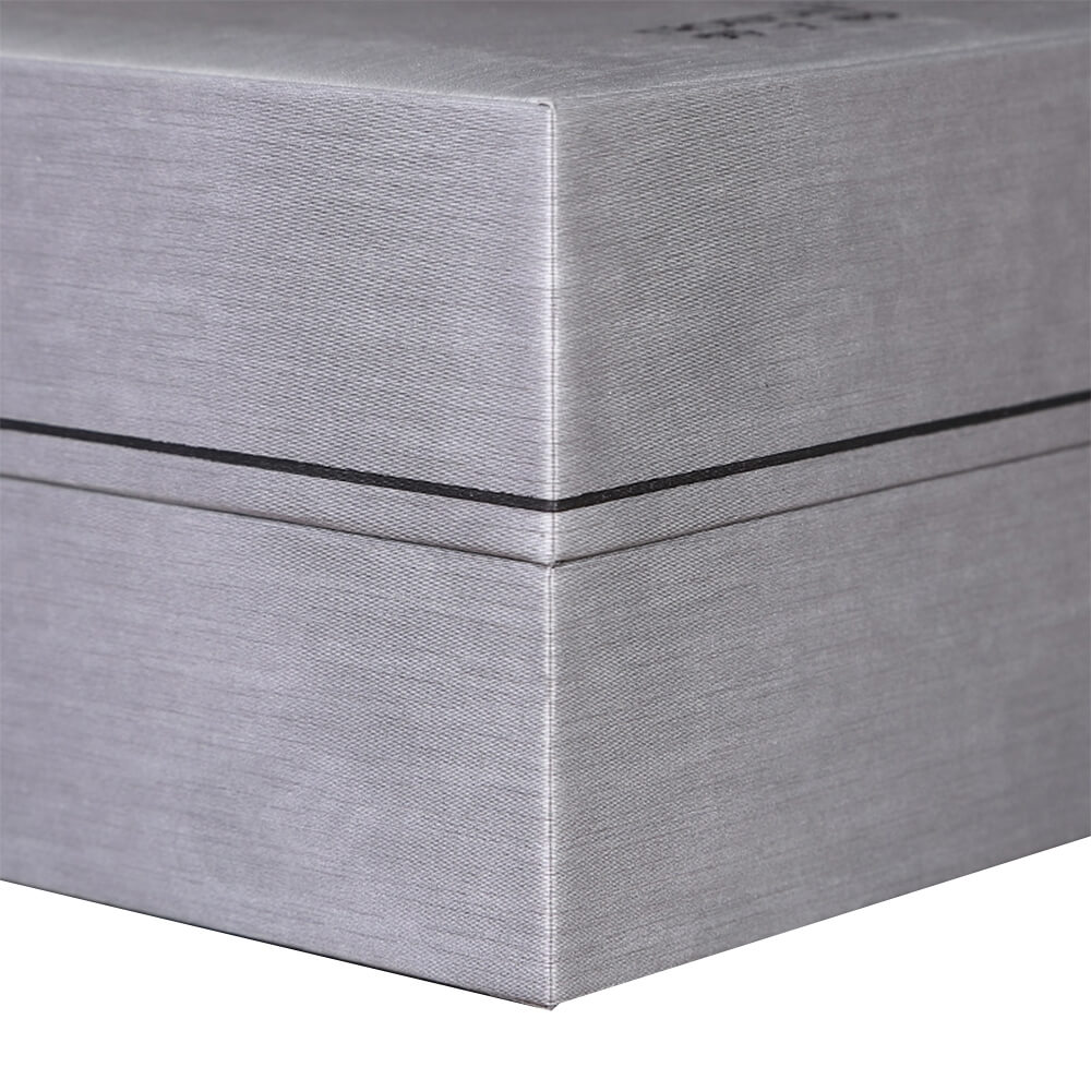 Cardboard Silver Specialty Box For Watch Side View Four