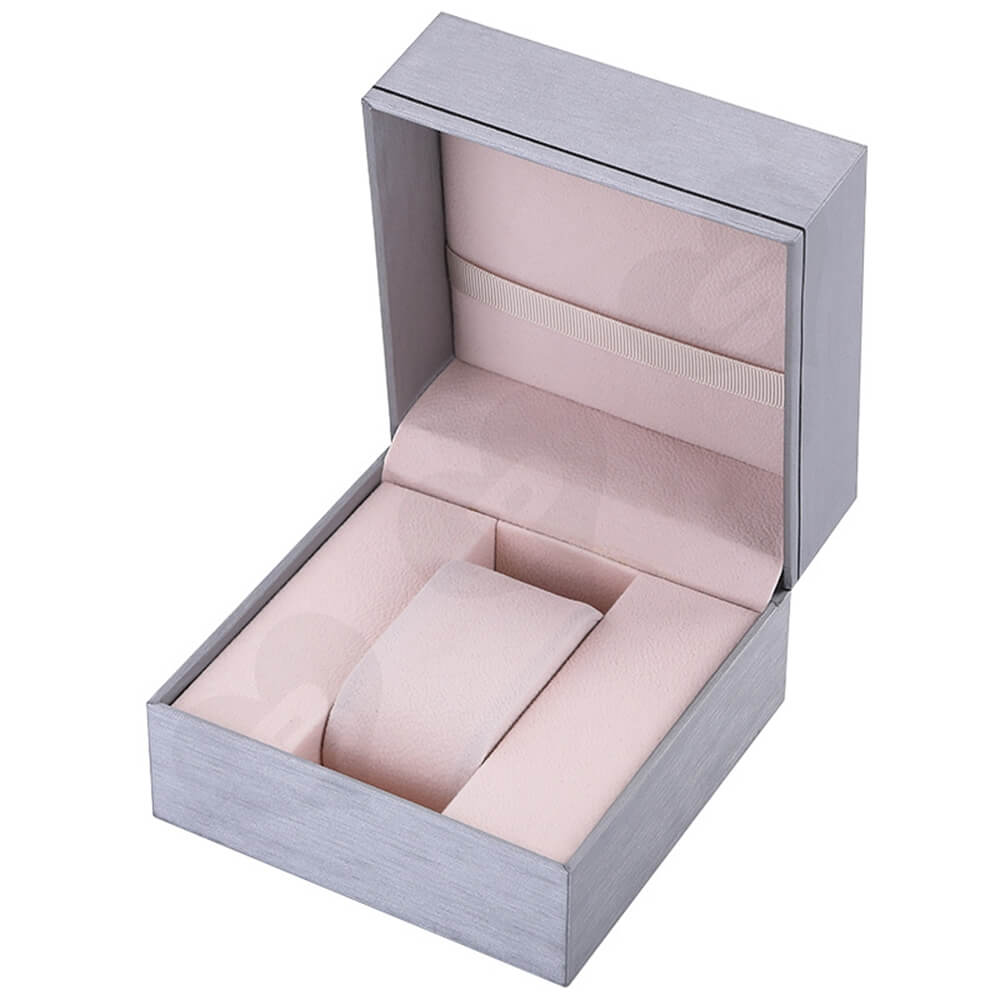 Cardboard Silver Specialty Box For Watch Side View Two