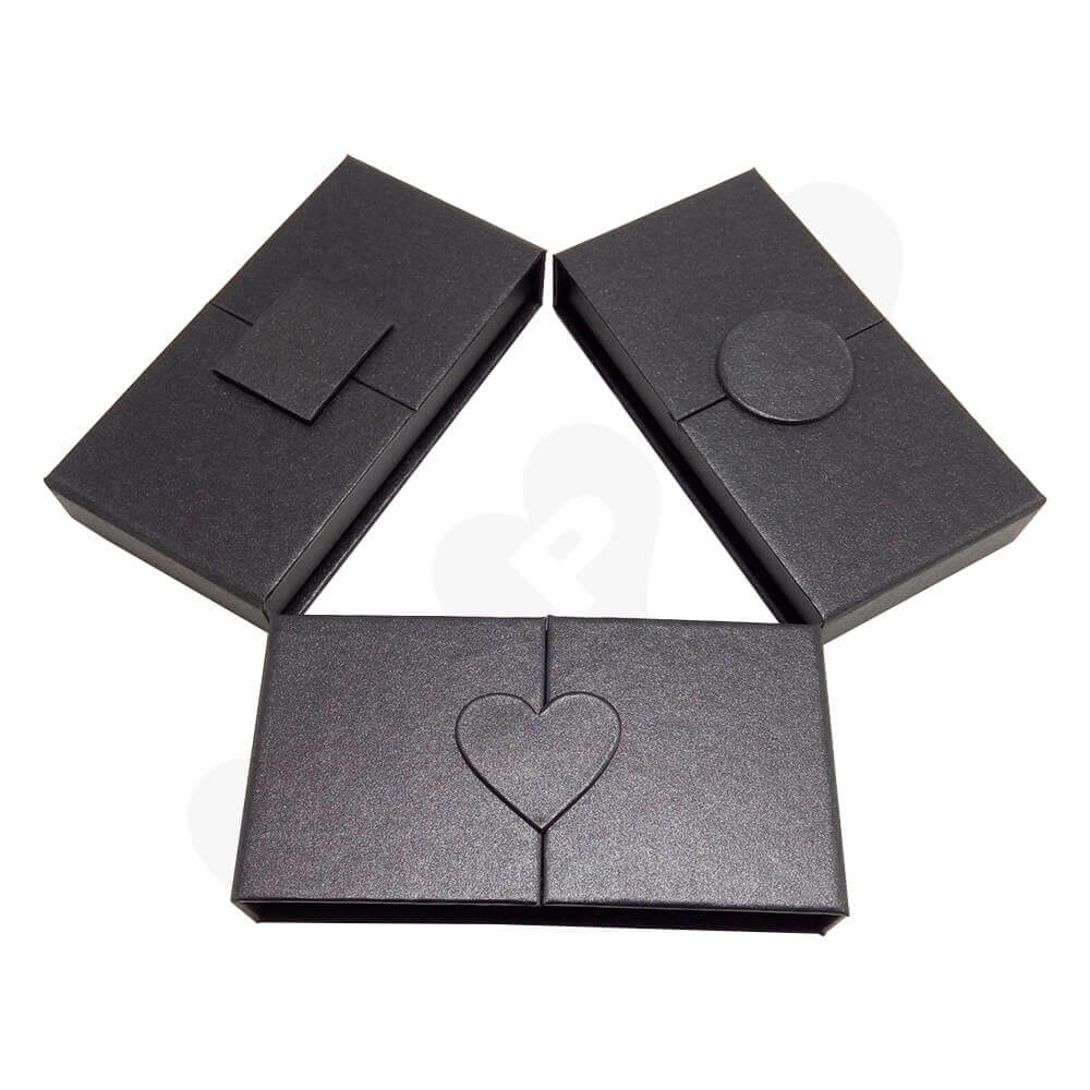 Cheap Eyelash Packaging Box Wholesale Side View One