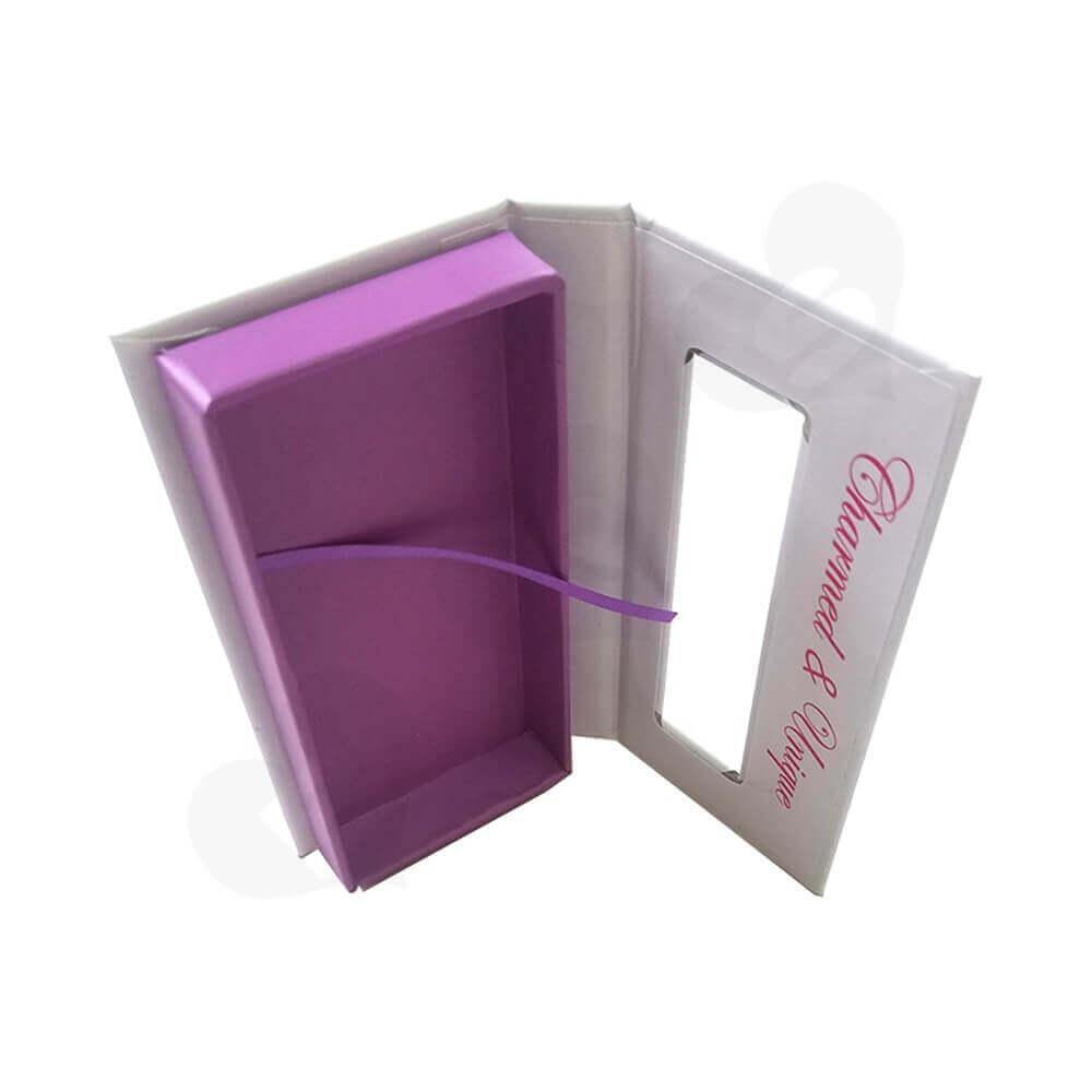 Custom Box Book Shape For Eyelashes Side View Four