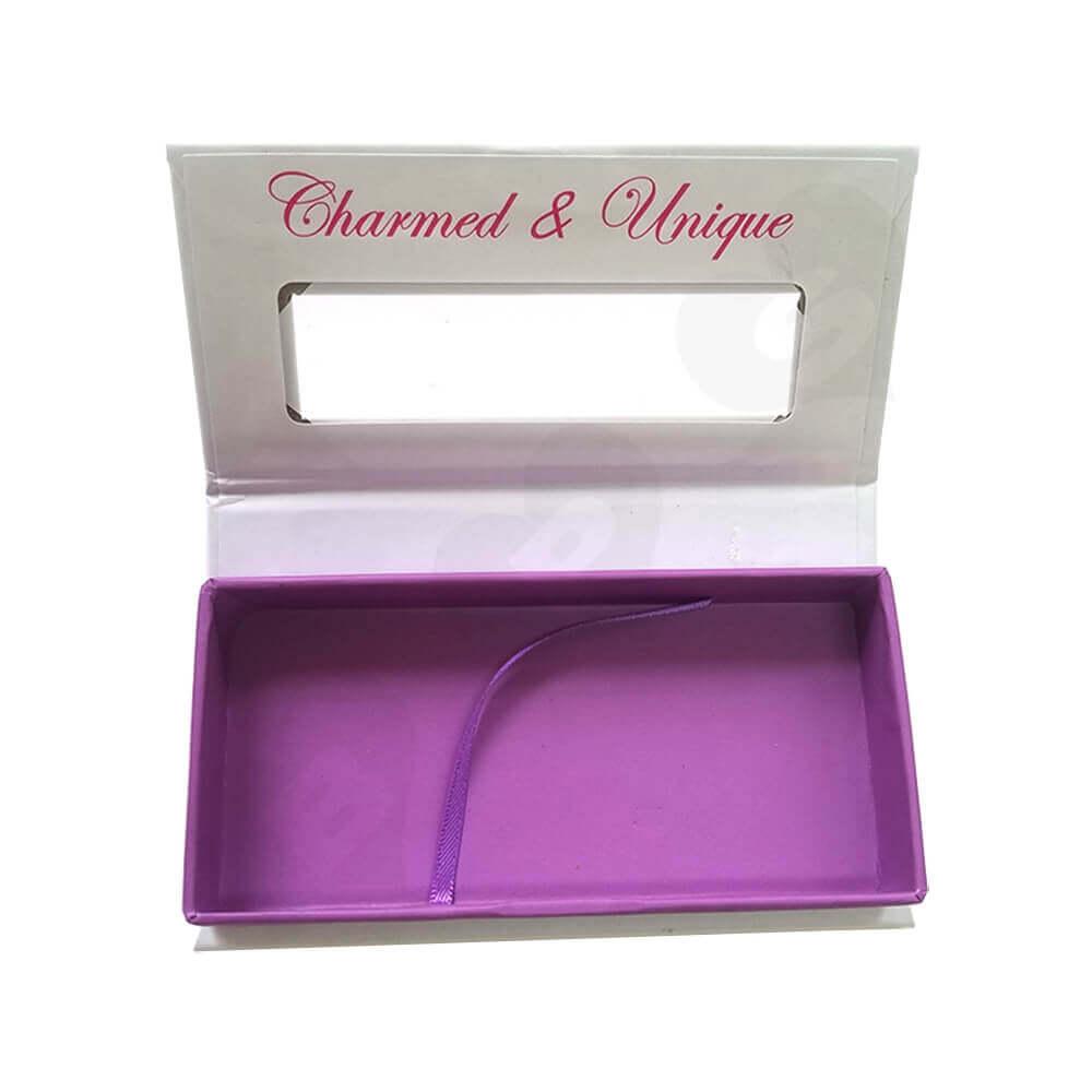 Custom Box Book Shape For Eyelashes Side View Two