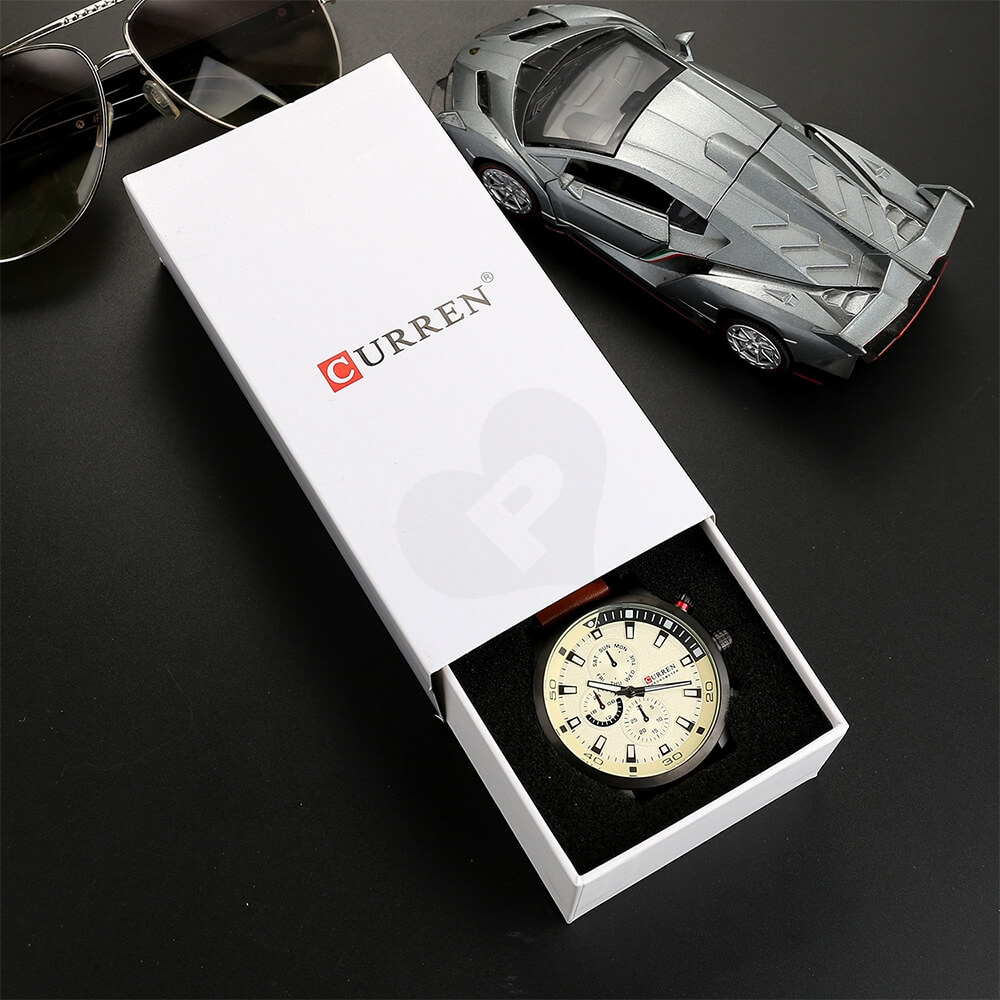 Custom Box With Lift Off Lid For Watch Side View Eight