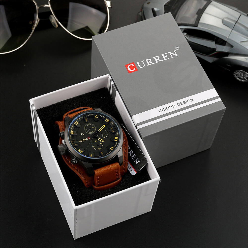 Custom Box With Lift Off Lid For Watch Side View Five