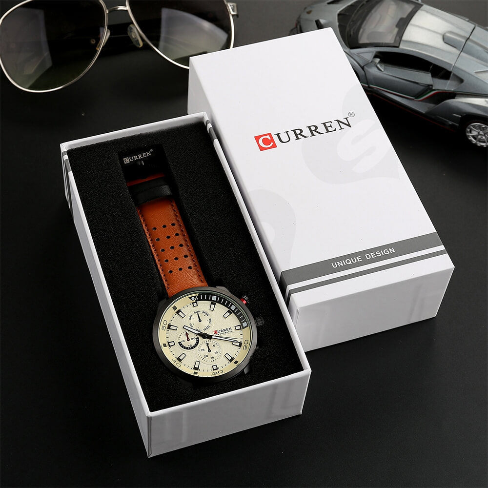 Custom Box With Lift Off Lid For Watch Side View Seven