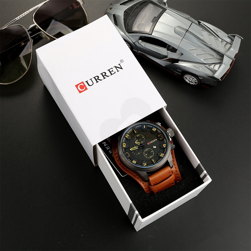 Custom Box With Lift Off Lid For Watch Side View Six