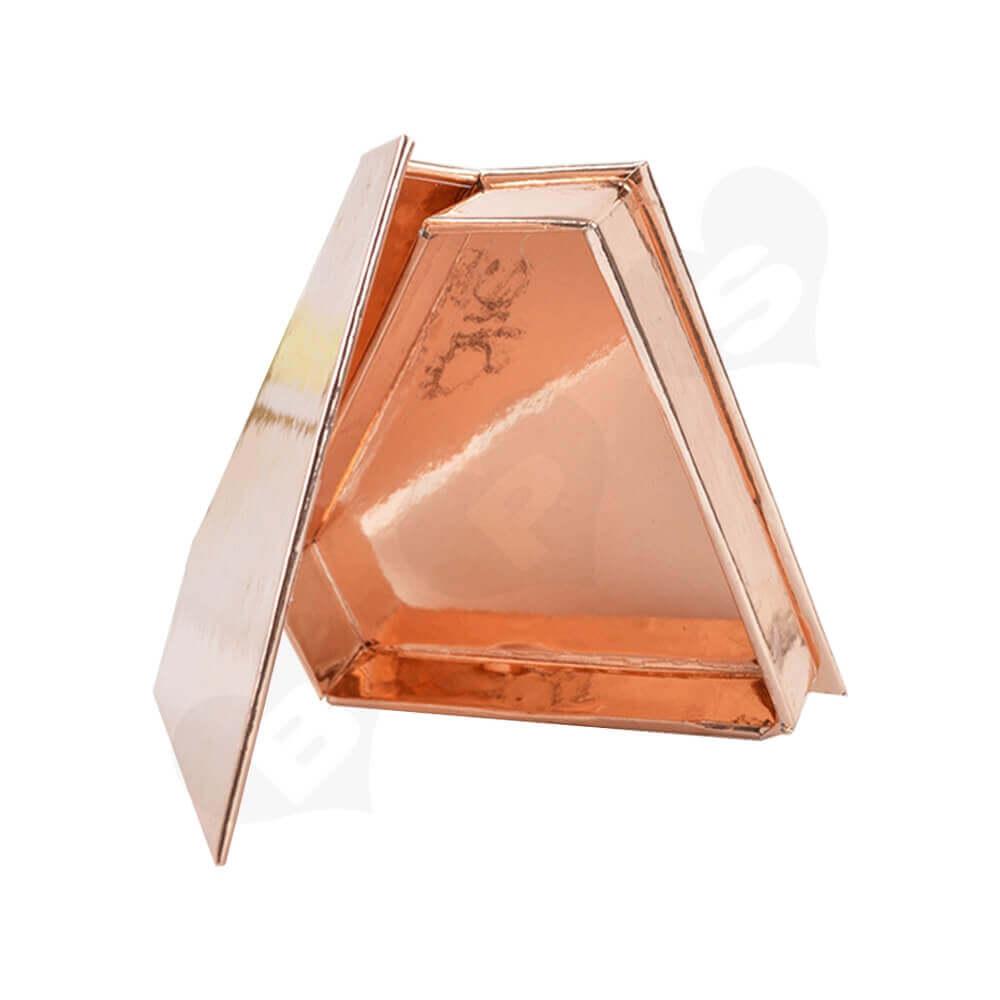 Custom Branded Diamond Shape Box For Eyelash Side View Three
