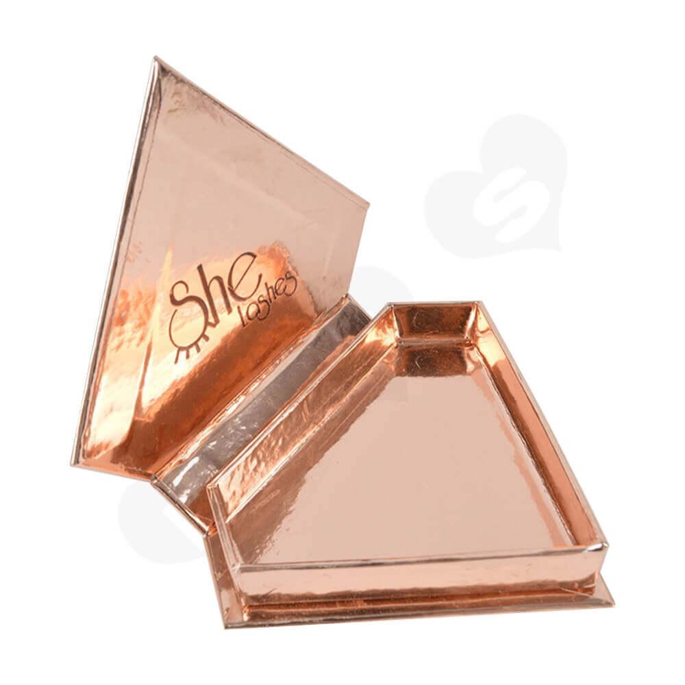 Custom Branded Diamond Shape Box For Eyelash Side View Two