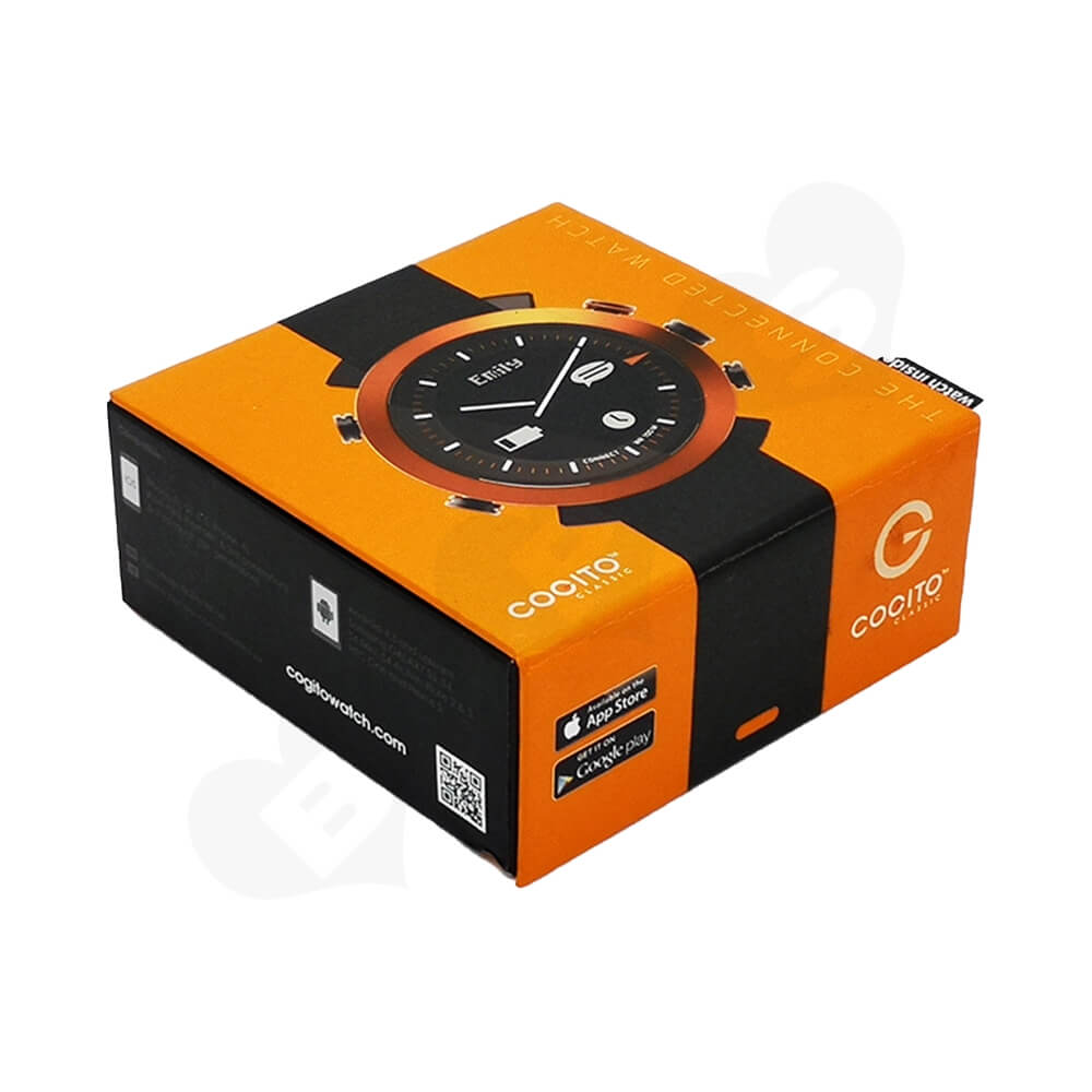 Custom Cardboard Magnetic Closure Box For Watch Side View One