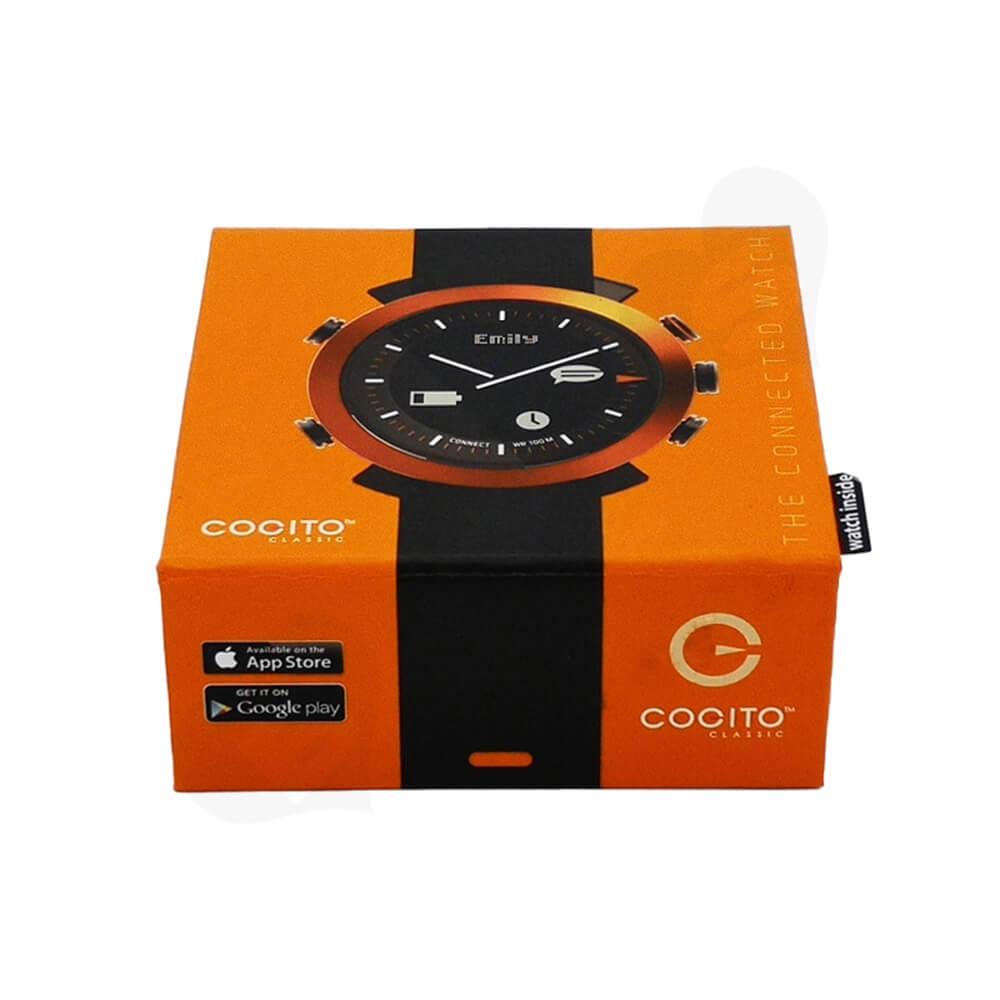 Custom Cardboard Magnetic Closure Box For Watch Side View Three