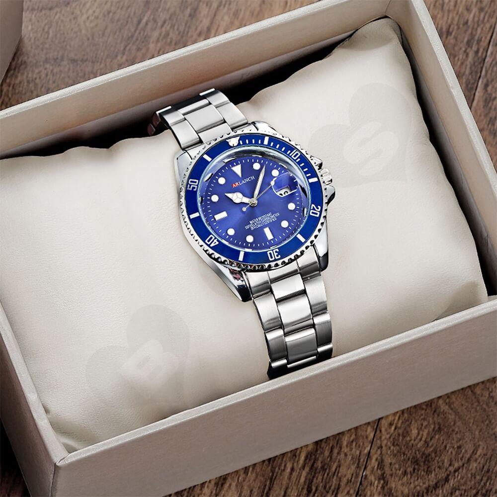 Custom Cardboard Watch Box With Sleeve Side View Three
