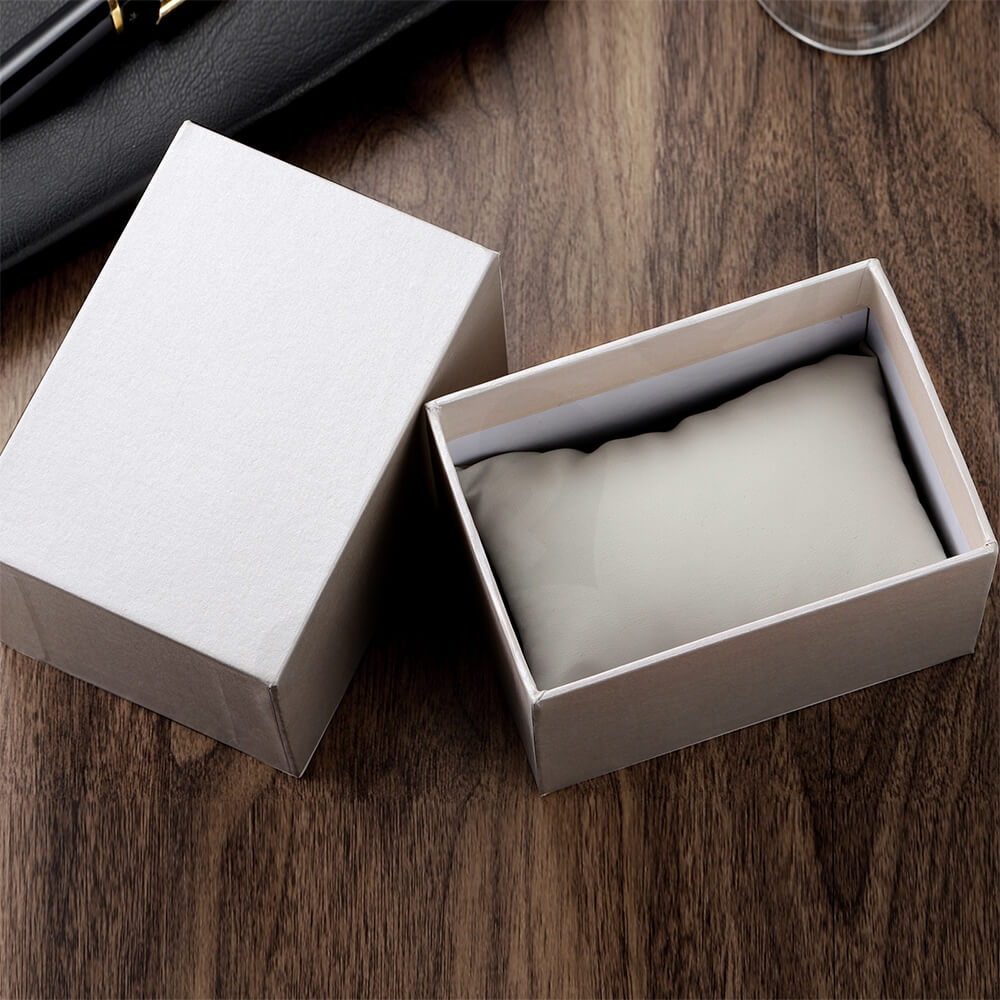 Custom Cardboard Watch Box With Sleeve Side View Two