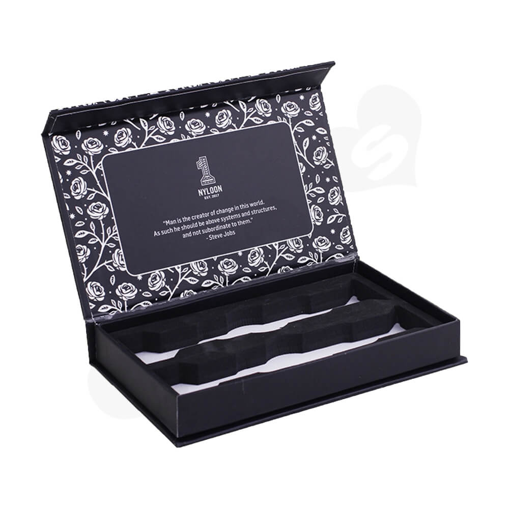 Custom Double Sided Printing Watch Box Side View One