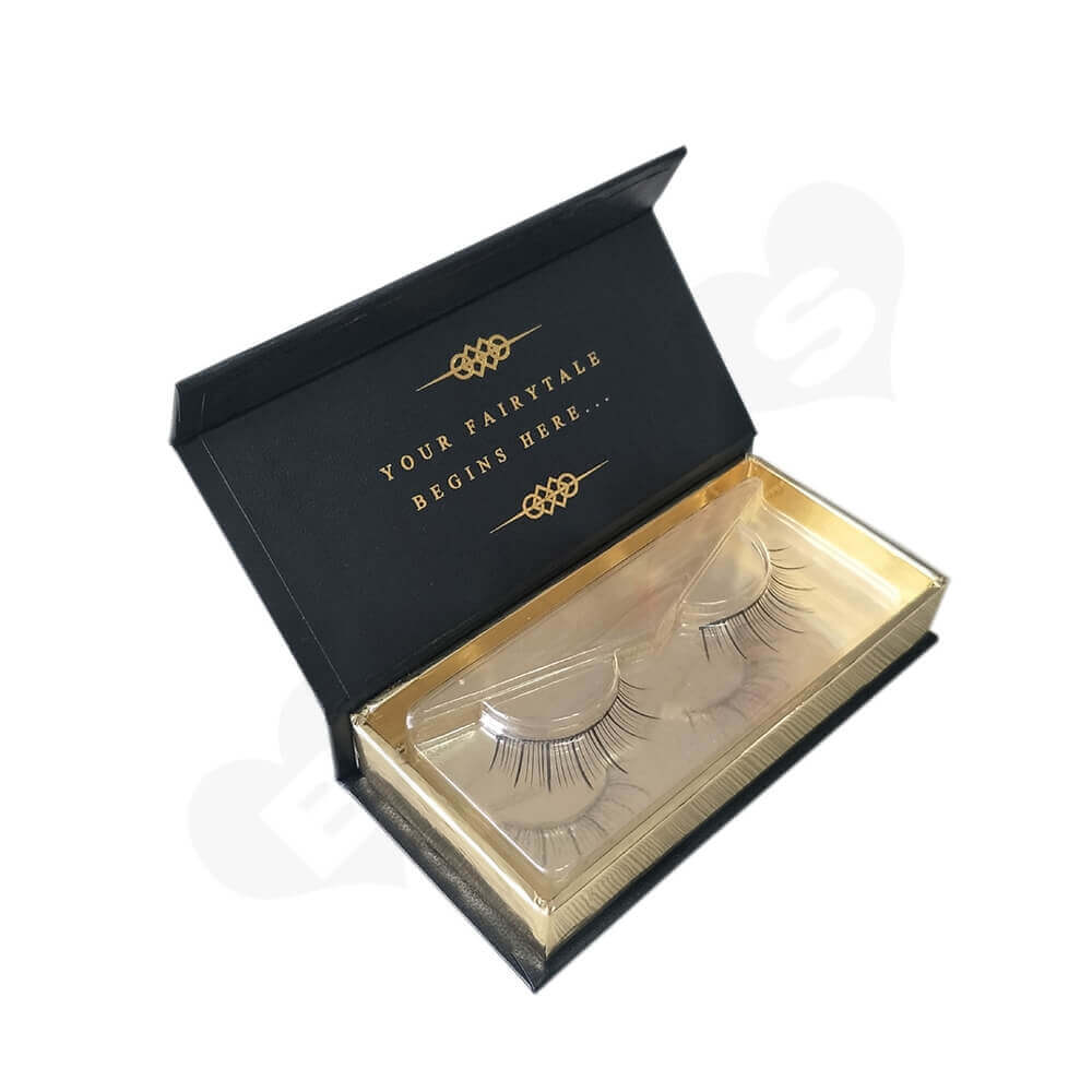 Custom Eyelash Box With Acrylic Insert Side View One