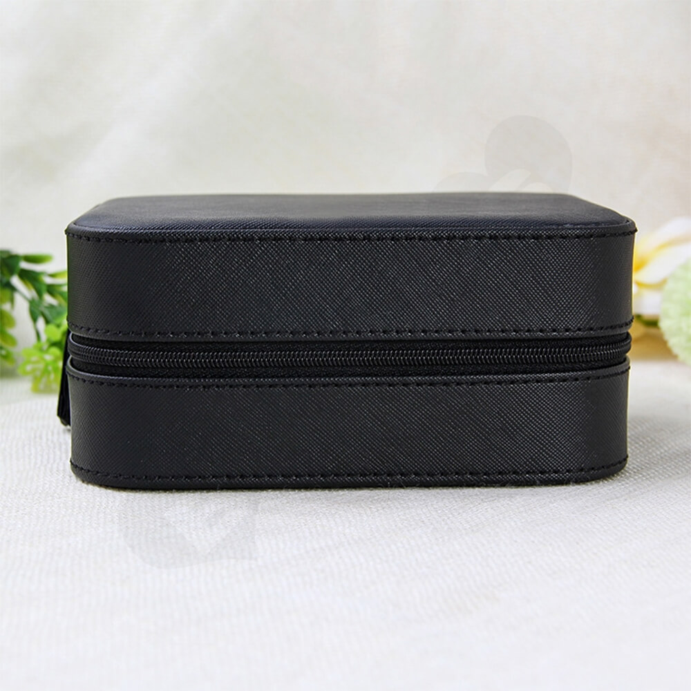 Custom Fabric Suitcase Box For Watch Side View Four
