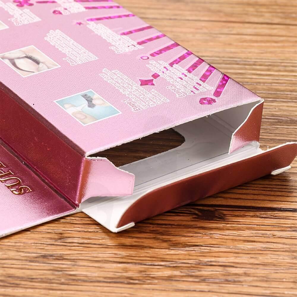 Custom Folding Box With Hangtab For Eyelash Side View Five