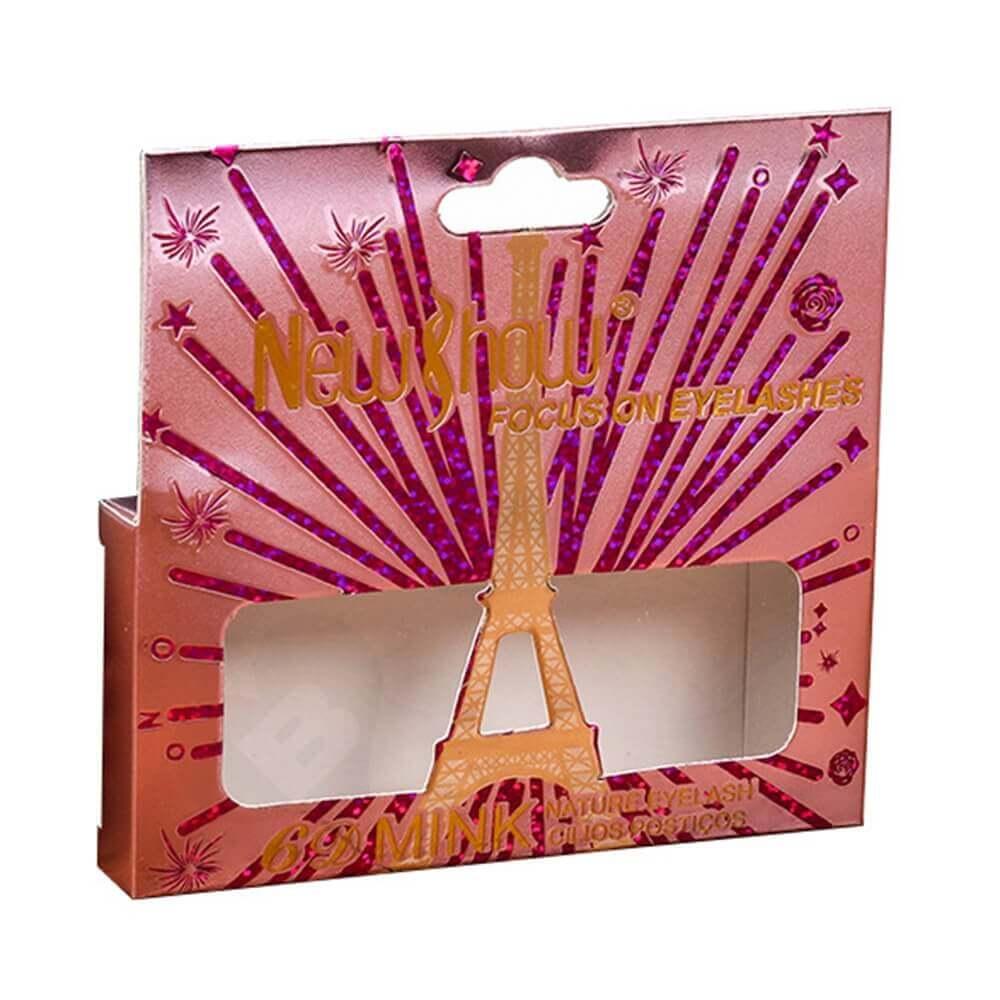 Custom Folding Box With Hangtab For Eyelash Side View One