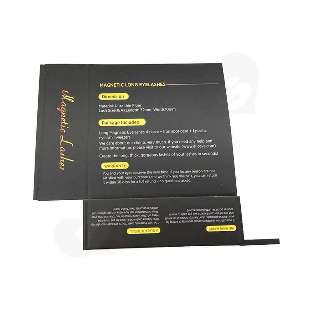 Custom Folding Carton Box For Magnetic Eyelashes Side View Five