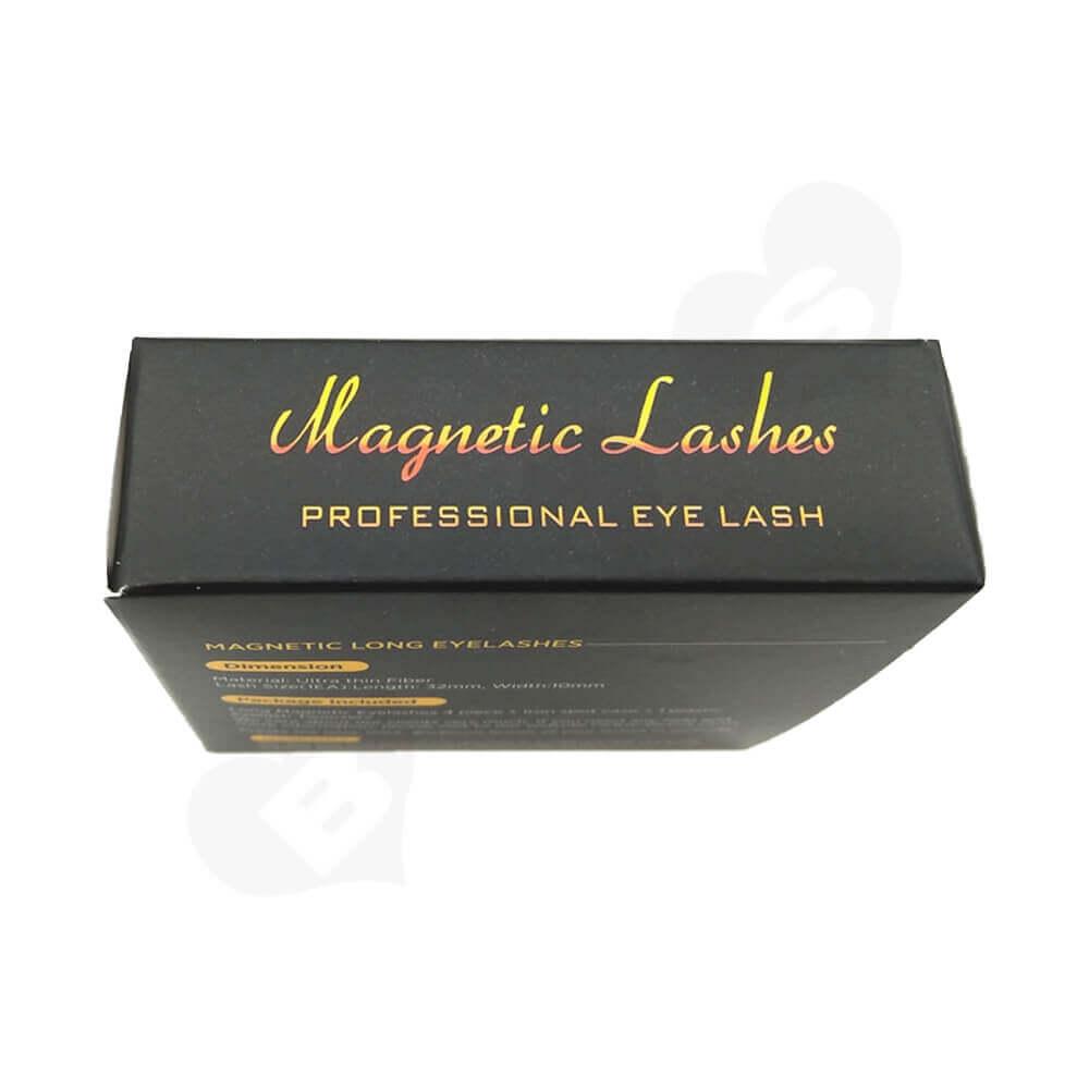 Custom Folding Carton Box For Magnetic Eyelashes Side View Two
