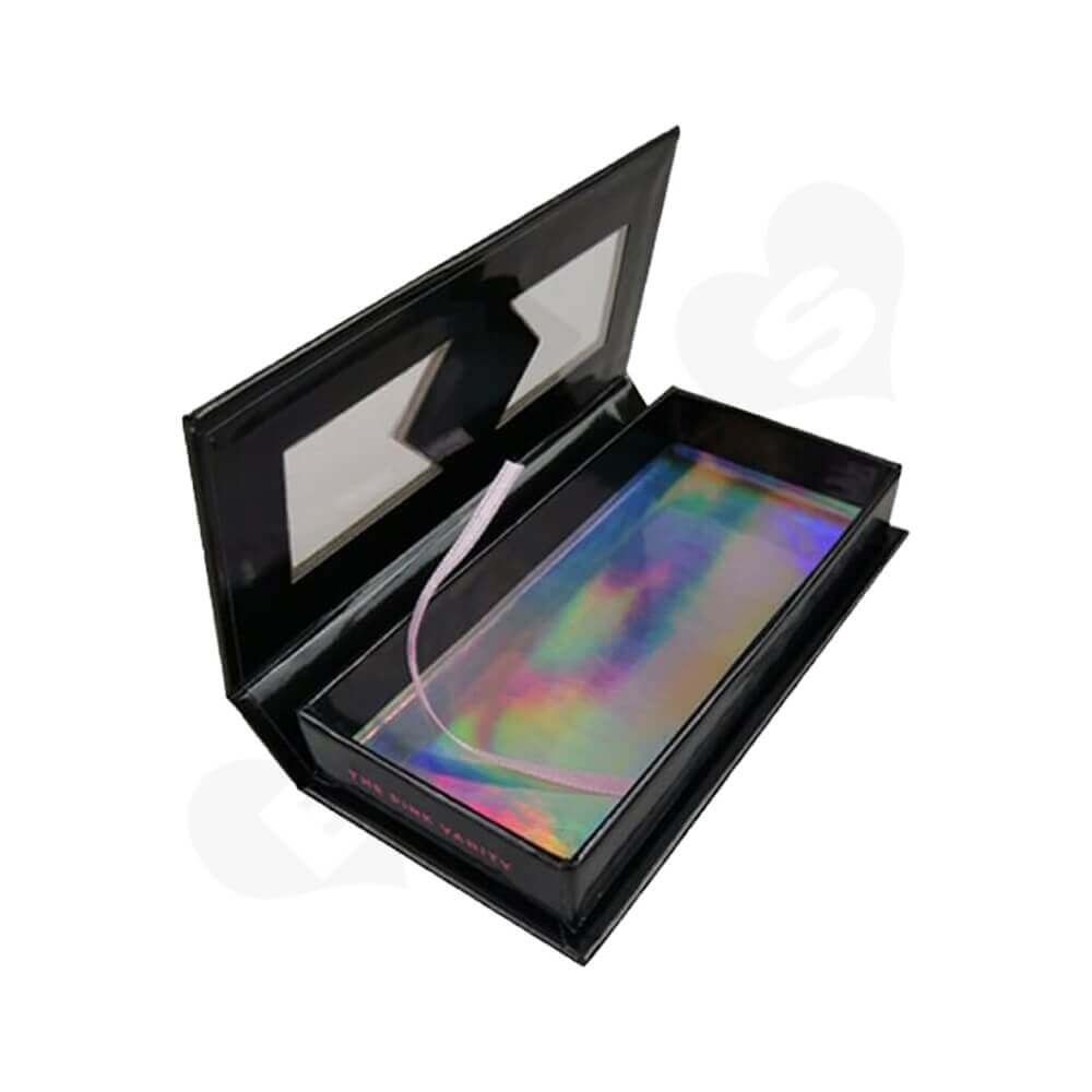 Custom Magnetic Closure Eyelash Packaging Box Side View One