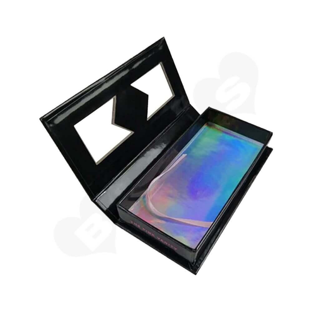 Custom Magnetic Closure Eyelash Packaging Box Side View Three