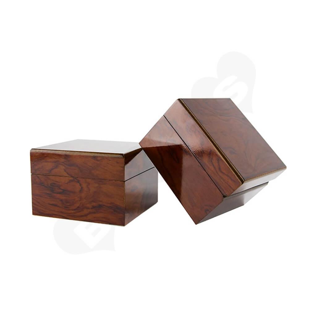 Custom Painted Timber Watch Box Side View Three
