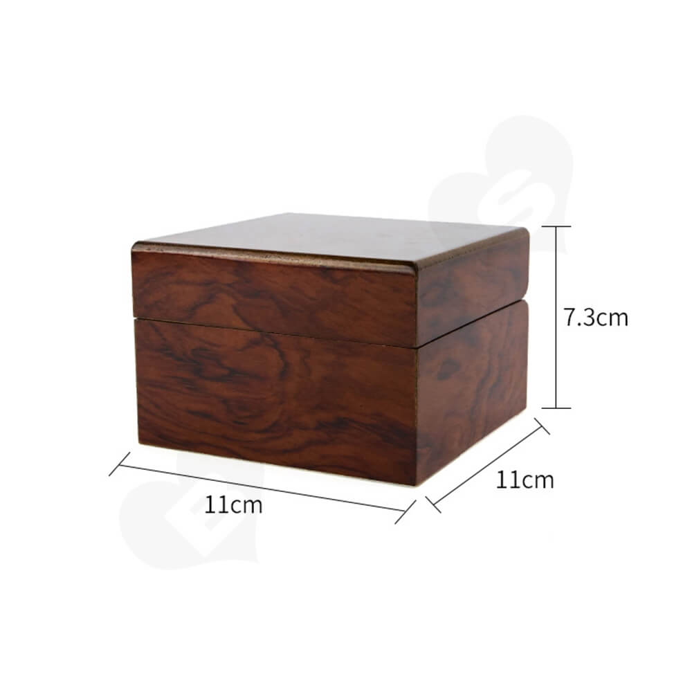 Custom Painted Timber Watch Box Side View Two