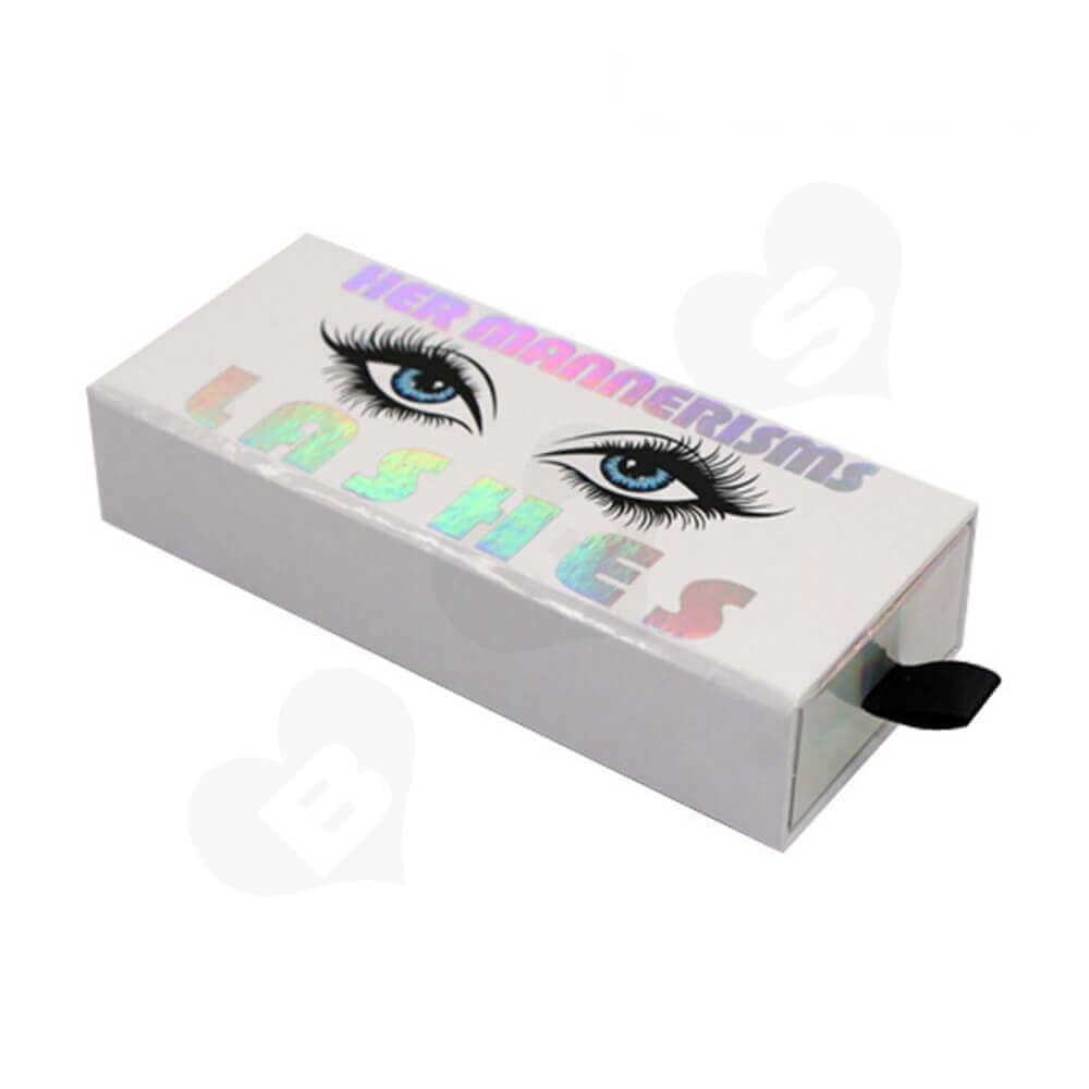 Custom Printable Eyelash Boxes Wholesale Side View One