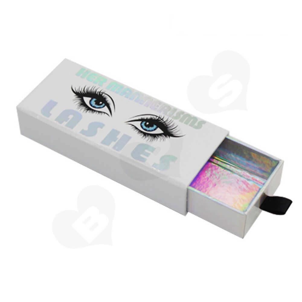 Custom Printable Eyelash Boxes Wholesale Side View Two